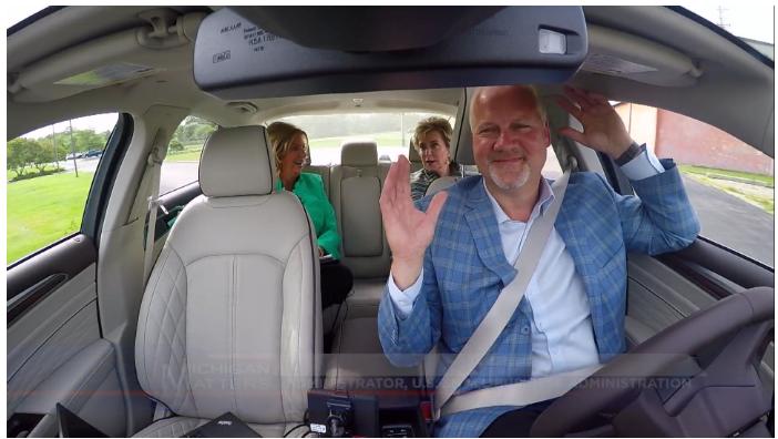 Linda McMahon in Car