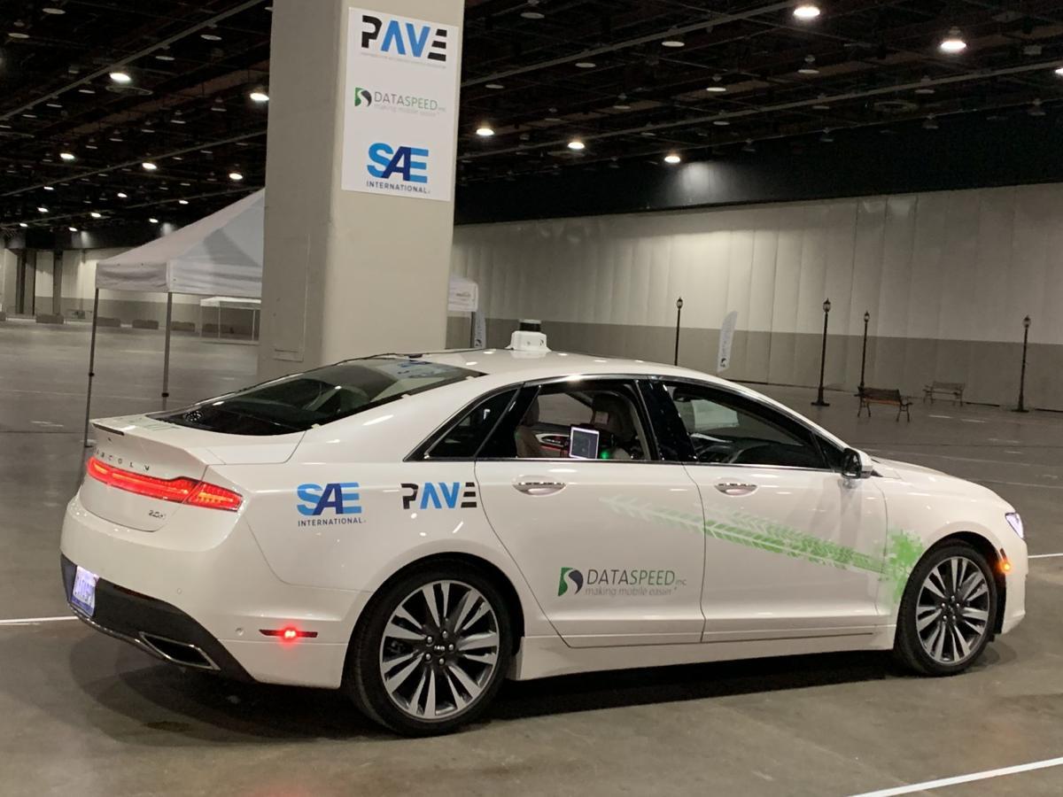 Lincoln MKZ autonomous vehicle dataspeed