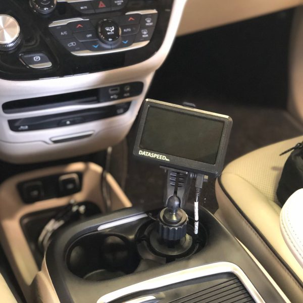 Touchscreen Interface in cup holder mount