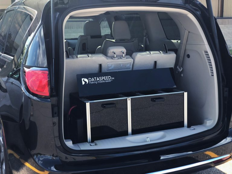 Active Cooling Storage Rack in Chrysler Pacifica