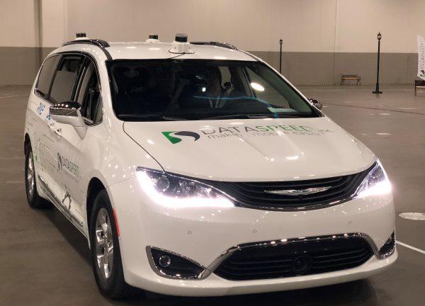 Velodyne Magnetic Roof Mounts on Dataspeed Chrysler Pacifica