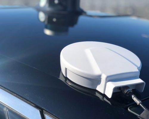 Novatel GPS on Lincoln MKZ Roof